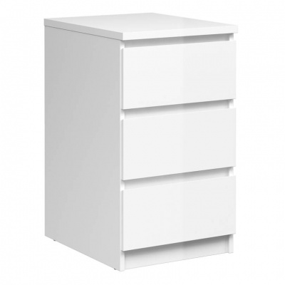 Naia Bedside - 3 Drawers in White